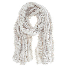 Buy Mint Velvet Faux Fur Mix Scarf, Neutral Latte Online at johnlewis.com