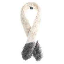 Buy Mint Velvet Faux Fur Stole, Cream / Latte Online at johnlewis.com