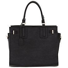 Buy Miss Selfridge Slot Bowler Bag, Black Online at johnlewis.com