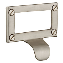 Buy John Lewis Index Card Pull, Satin Nickel Online at johnlewis.com