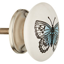 Buy John Lewis Butterfly Ceramic Cupboard Knob Online at johnlewis.com