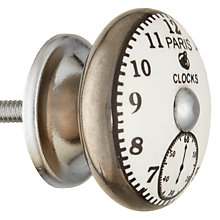 Buy John Lewis Vintage Clock Ceramic Cupboard Knob, Dia.40mm Online at johnlewis.com