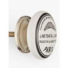 Buy John Lewis Maison Ceramic Cupboard Knob Online at johnlewis.com