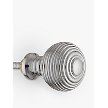 Buy John Lewis Ribbed Cupboard Knob, Polished Chrome, Dia.25mm Online at johnlewis.com