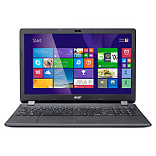 "Buy Acer Aspire ES1-512 Laptop, Intel Celeron, 4GB RAM, 1TB, 15.6"", Black Online at johnlewis.com"