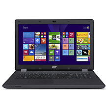 "Buy Acer Aspire ES1-711 Laptop, Intel Pentium, 8GB RAM, 1TB, 17.3"", Black Online at johnlewis.com"