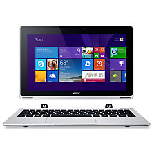"Buy Acer Aspire Switch 11 Convertible Tablet Laptop, Intel Atom, 2GB RAM, 32GB SSD, 11.6"" Touch Screen, Silver Online at johnlewis.com"