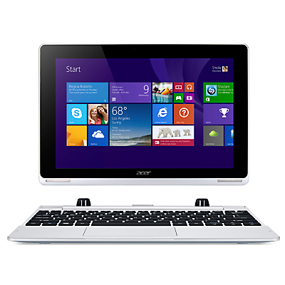 "Image of Acer Aspire Switch 10 Convertible Tablet, Intel Atom, 2GB RAM, 64GB eMMC, Windows 8.1 & Microsoft Office 365, 10.1"" Full HD Touch Screen, Silver"