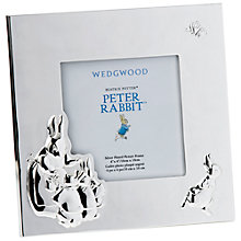 "Buy Wedgwood Peter Rabbit Picture Frame, 4 x 4"", Silver Online at johnlewis.com"