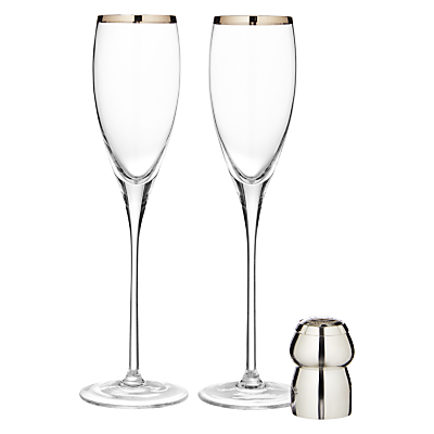 Culinary Concepts Champagne Cork Holder and Flutes Set