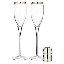 Buy Culinary Concepts Champagne Cork Holder and Flutes Set Online at johnlewis.com