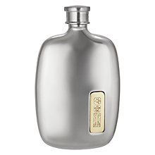 Buy John Lewis Spirit Pewter Flask, 90ml Online at johnlewis.com