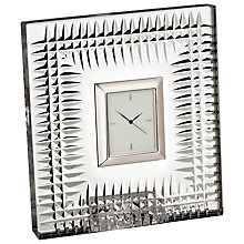 Buy Waterford Lismore Diamond Bed Clock Online at johnlewis.com