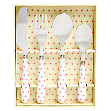 Buy Martin Gulliver Pink Star Cutlery Set Online at johnlewis.com