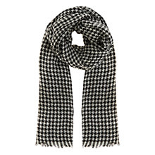 Buy Coast Dog Tooth Jacquard Scarf, Mono Online at johnlewis.com