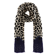 Buy Coast Wild Scarf, Black/Cream Online at johnlewis.com