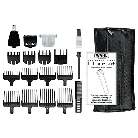 buy wahl lithium ion stainless steel grooming station silver john lewis. Black Bedroom Furniture Sets. Home Design Ideas