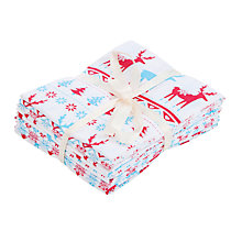 Buy John Lewis Nordic Christmas Fat Quarters, Pack of 6 Online at johnlewis.com