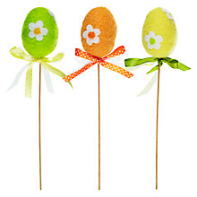 Buy John Lewis Felt Floral Egg Picks, Assorted Colours Online at johnlewis.com