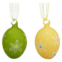 Buy John Lewis Coloured Glass Easter Eggs, Assorted Colours Online at johnlewis.com