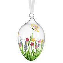 Buy John Lewis Hand-Painted Floral Glass Egg Online at johnlewis.com