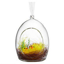 Buy John Lewis Chick in Glass Egg, Yellow Online at johnlewis.com