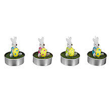 Buy John Lewis Bunny Tealights, Assorted Colours Online at johnlewis.com