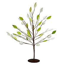 Buy John Lewis Leaf Tree Decoration, Green Online at johnlewis.com