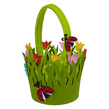Buy John Lewis Felt Ladybird Basket Online at johnlewis.com