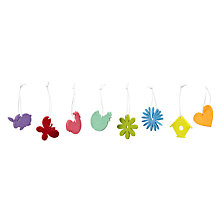Buy John Lewis Coloured Felt Decorations, Pack of 36 Online at johnlewis.com
