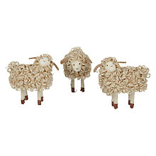 Buy John Lewis Natural Sheep, Pack of 3 Online at johnlewis.com