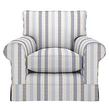 Buy John Lewis Padstow Armchair, Brooklyn Stripe Blue Online at johnlewis.com