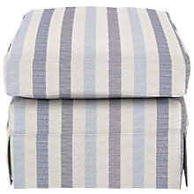 Buy John Lewis Padstow Footstool, Brooklyn Stripe Blue Online at johnlewis.com