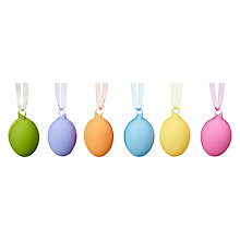 Buy John Lewis Box of 6 Coloured Glass Easter Eggs Online at johnlewis.com