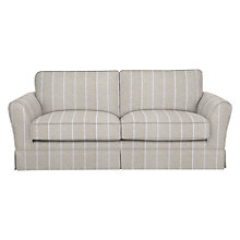 Buy John Lewis Nelson Large Sofa, Lindarva Stripe Natural Online at johnlewis.com