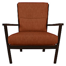 Buy John Lewis Hanoi Walnut Armchair, Henley Terracotta Online at johnlewis.com