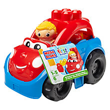 Buy Mega Bloks First Builders Ricky Race Car Online at johnlewis.com