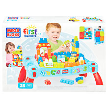 Buy Mega Bloks First Builders Build & Learn Table Online at johnlewis.com