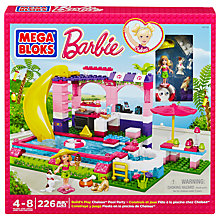 Buy Mega Bloks Barbie Build 'n' Play Chelsea Pool Party Online at johnlewis.com