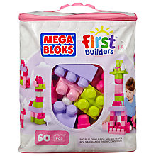 Buy Mega Bloks First Builders Big Building Bag, Pink Online at johnlewis.com