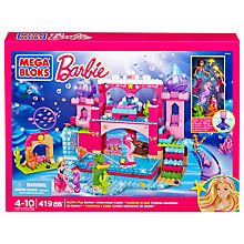 Buy Mega Bloks Barbie Build 'n' Play Underwater Castle Play Set Online at johnlewis.com