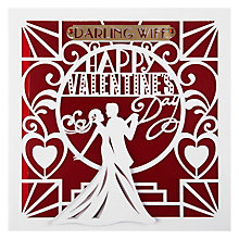 Buy Paperrose Dancing Wife Valentine's Card Online at johnlewis.com