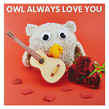 Buy Mint Publishing Owl Always Valentine's Card Online at johnlewis.com