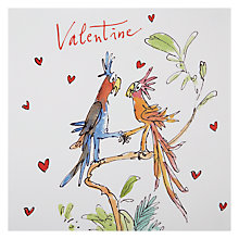 Buy Quentin Blake Birds on a Branch Valentine's Card Online at johnlewis.com
