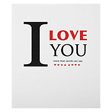 Buy Portfolio I Love You More Valentine's Card Online at johnlewis.com