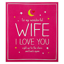 Buy Pigment Wonderful Wife Valentine's Card Online at johnlewis.com