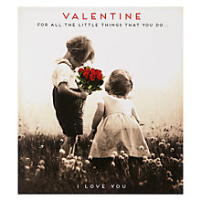 Buy Pigment Boy Girl Flowers Valentine's Card Online at johnlewis.com