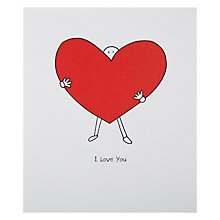 Buy Portfolio Big Heart Love You Valentine's Card Online at johnlewis.com