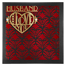Buy Paperrose Husband Repeat Valentine's Card Online at johnlewis.com