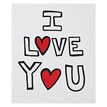 Buy Portfolio I Love You Valentine's Card Online at johnlewis.com